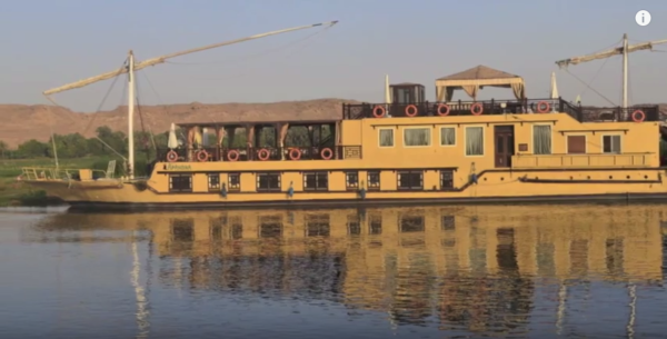 Cruising the Nile on the Dahabeya Afandina - our home for 7 nights!