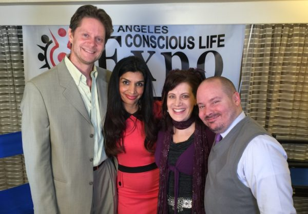 Matt Kahn and Julie Dittmar at the Conscious Life Expo